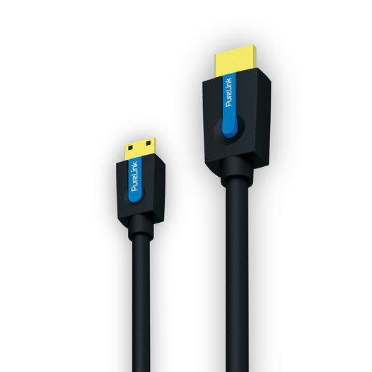 PureLink® - Cinema Serie. High Speed Mini HDMI Kabel mit Ethernet Kanal. 24 kt. vergoldete Präzisions-Steckkontakte. Akt