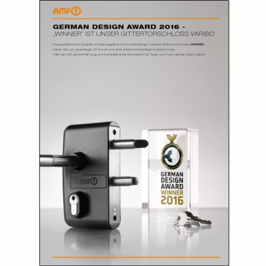 Winner 2016 - German Design Award