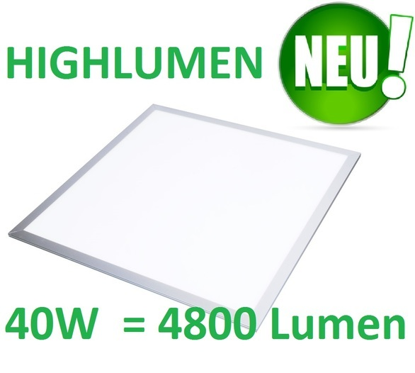 LED Panel 62x62cm HIGHLUMEN 40W 4800Lm